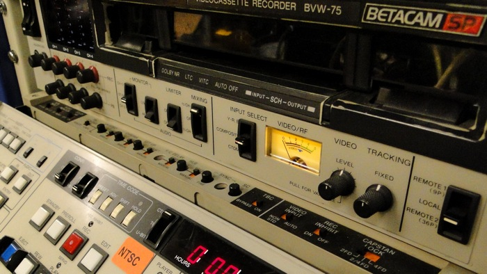 Sony BVW75 Betacam SP front panel close up