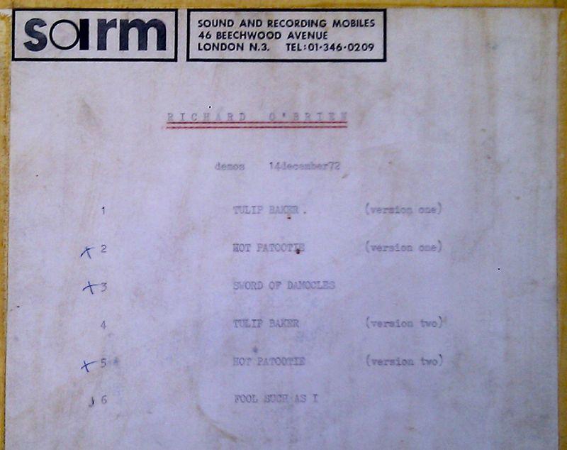 First ever recording at SARM studios