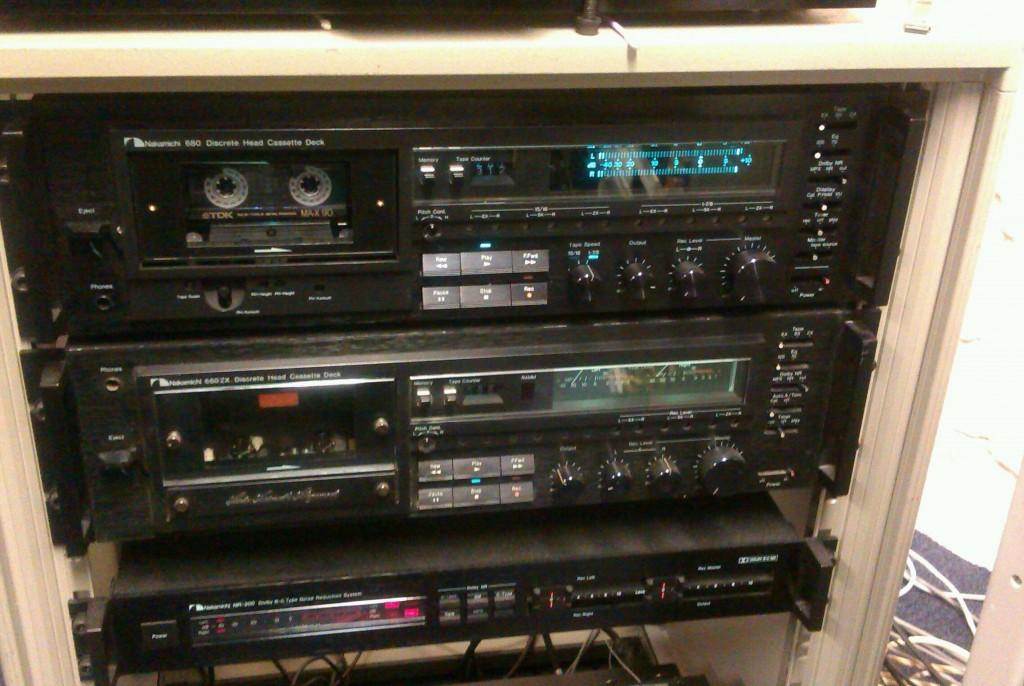 Nakamichi audio cassette digitising rack at the Great Bear