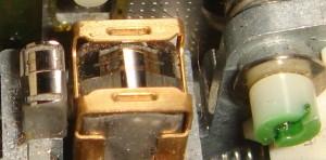 Head pad lifter on a Nakamichi tape machine