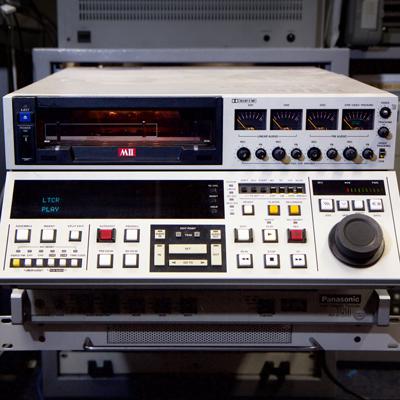large cream-coloured Panasonic MII (M2) video recorder